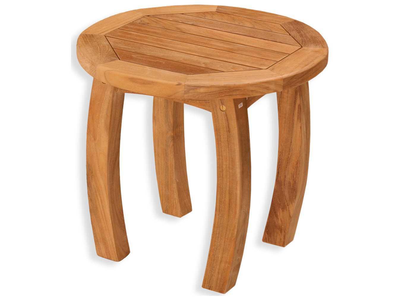 Tortuga outdoor jakarta teak 20 round side table tk r st for Outdoor teak side table