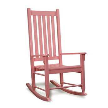 Tortuga Outdoor Pink Traditional Wooden Rocking Chair