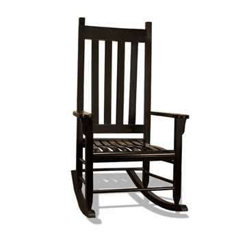 Tortuga Outdoor Black Traditional Wooden Rocking Chair