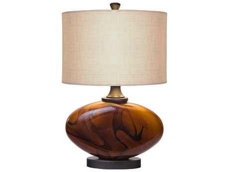 Thumprints Burl Dark Amber Table Lamp
