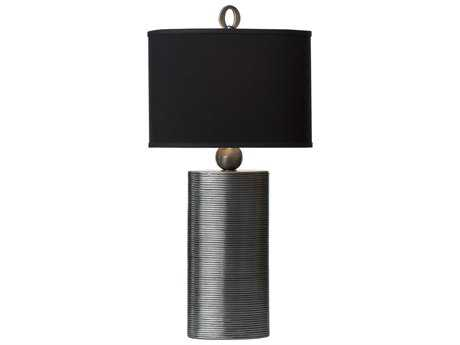 Thumprints Reflection Pewter & Black Table Lamp