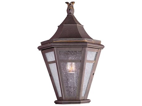 Troy Lighting Morgan Hill Natural Rust 10'' Wide Outdoor Wall Light