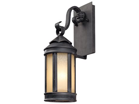 Troy Lighting Andersons Forge Antique Iron 5'' Wide Outdoor Wall Light