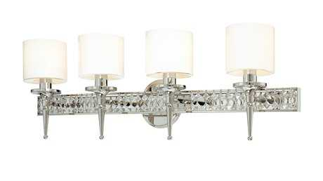 Troy Lighting Collins Polished Nickel Four-Light Vanity Light