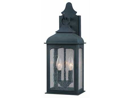 Troy Lighting Henry Street Colonial Iron Two-Light Outdoor Wall Light
