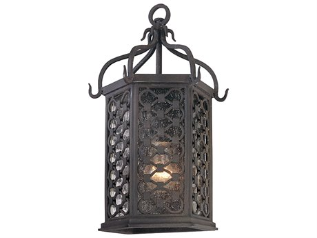 Troy Lighting Los Olivos Old Iron 8'' Wide Outdoor Wall Light