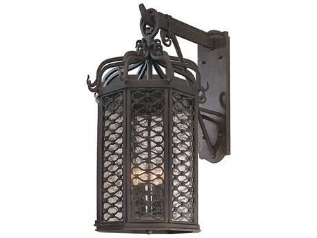 Troy Lighting Los Olivos Old Iron Four-Light 14'' Wide Outdoor Wall Light