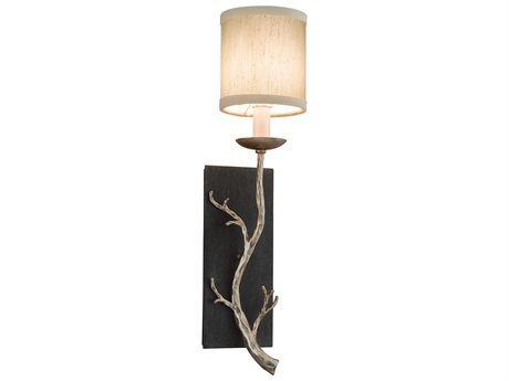 Troy Lighting Adirondack Graphite And Silver Leaf 5'' Wide Wall Sconce