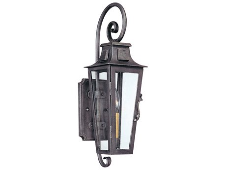 Troy Lighting Parisian Square Aged Pewter 6'' Wide Outdoor Wall Light