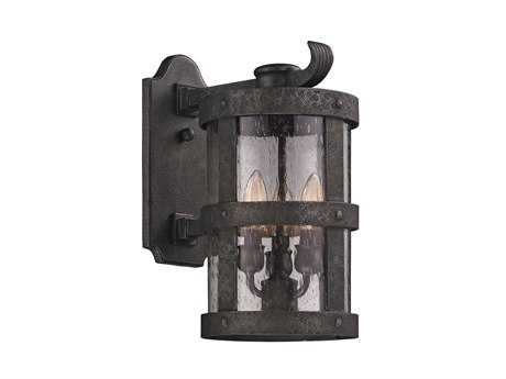 Troy Lighting Barbosa Bronze Three-Light Outdoor Wall Light