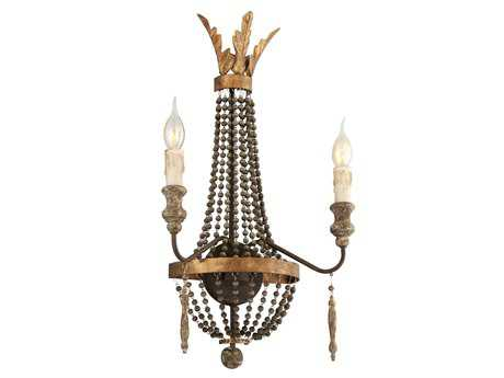 Troy Lighting Delacroix French Bronze Two-Light Wall Sconce