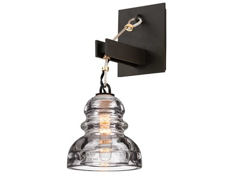 Troy Lighting Menlo Park Deep Bronze 6'' Wide Wall Sconce