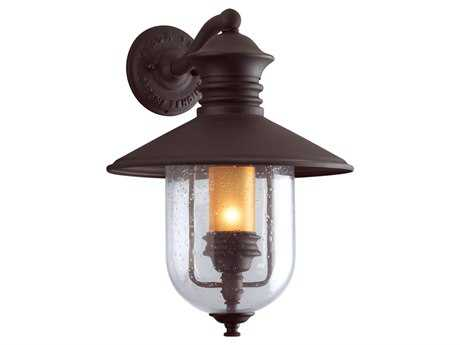 Troy Lighting Old Town Natural Bronze Outdoor Wall Light