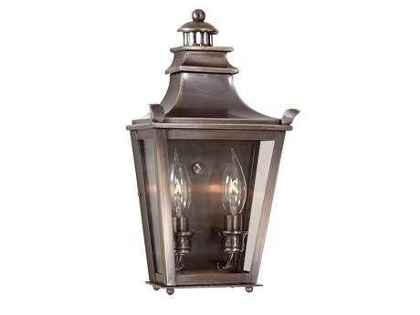 Troy Lighting Dorchester English Bronze Two-Light Outdoor Wall Light