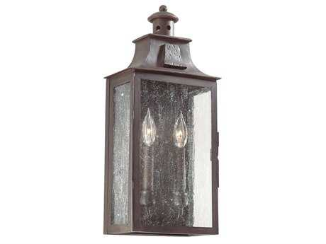 Troy Lighting Newton Old Bronze Two-Light Outdoor Wall Light