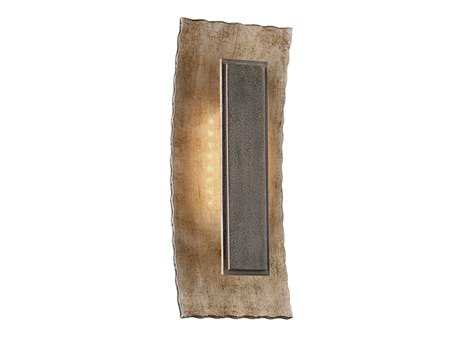 Troy Lighting Ginza Warm Silver with Forged Bronze Outdoor Wall Light