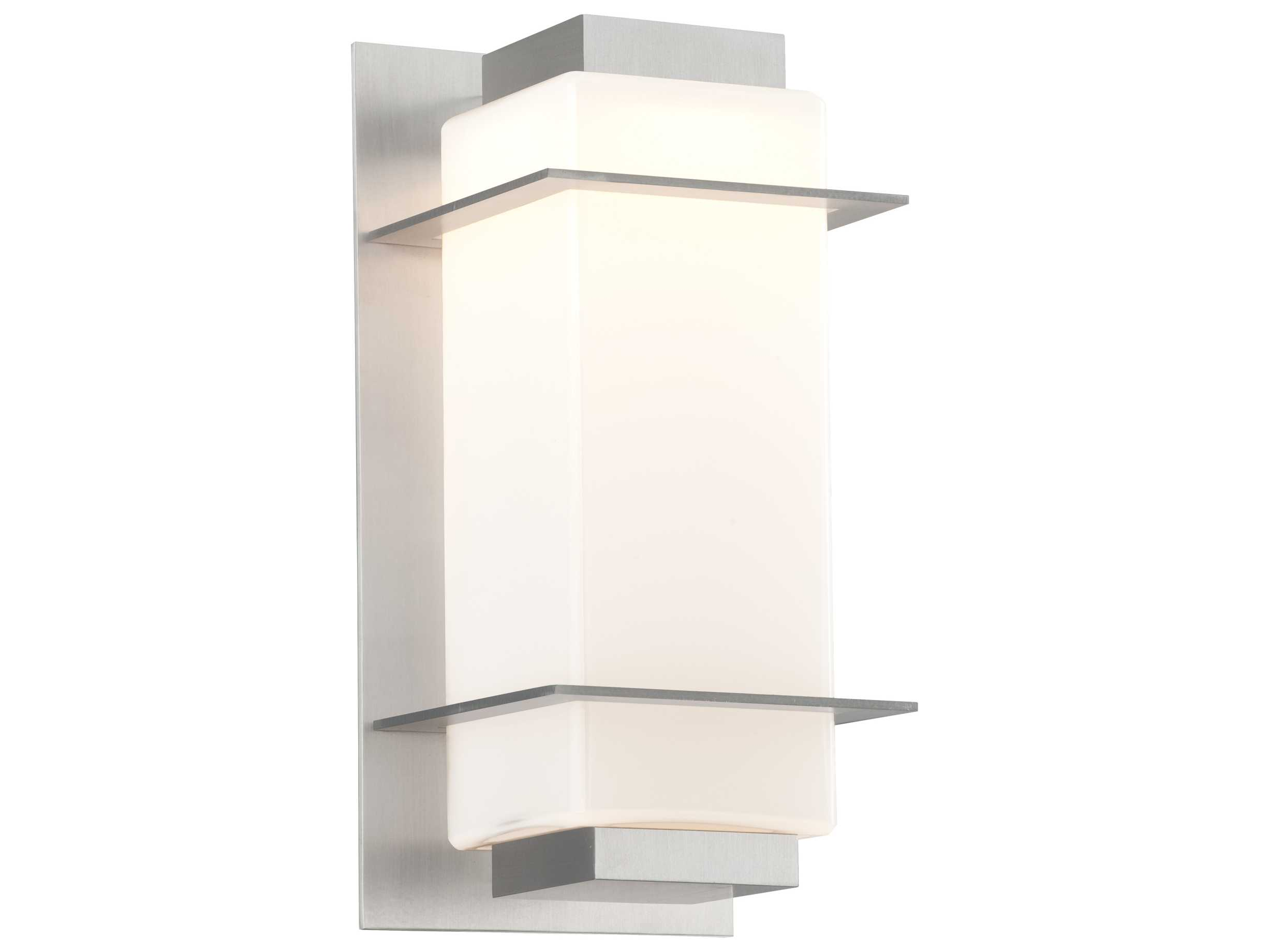 Small Bedroom Wall Lights : Troy Lighting Paradox Satin Aluminum Small LED Outdoor Wall Light TLBL4601SA