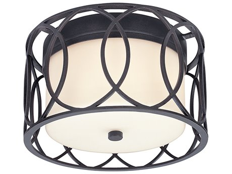 Troy Lighting Sausalito Deep Bronze Two-Light 12'' Wide Flush Mount