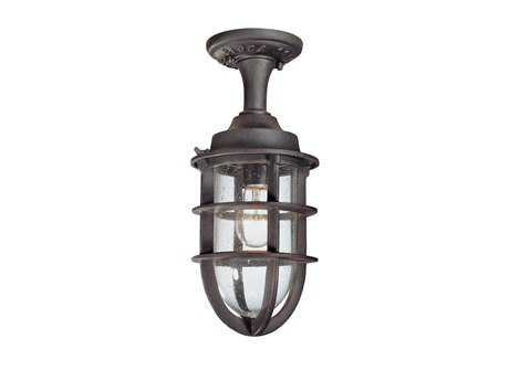 Troy Lighting Wilmington Nautical Rust Semi-Flush Mount Light