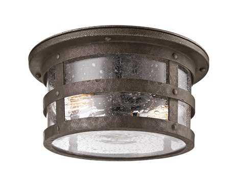 Troy Lighting Barbosa Bronze Two-Light Flush Mount Light