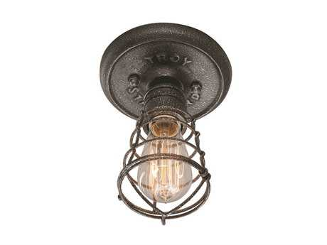 Troy Lighting Conduit Old Silver Iron Flush Mount Light