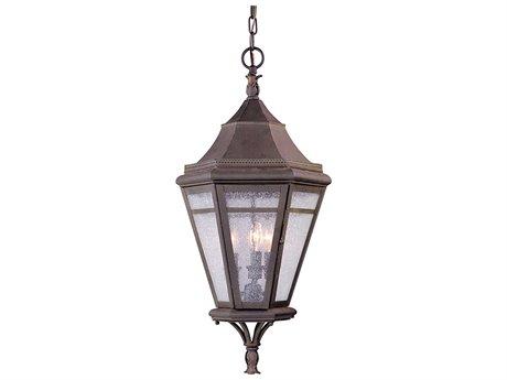 Troy Lighting Morgan Hill Natural Rust Three-Light 13'' Wide Outdoor Hanging Light TLF1276NR
