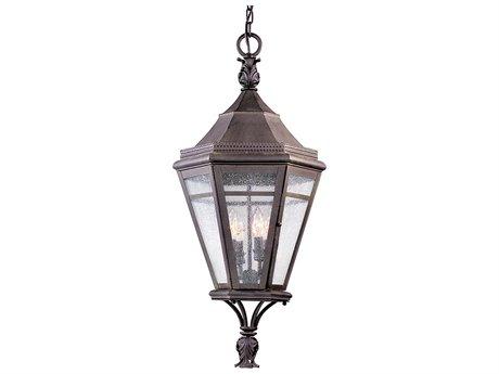 Troy Lighting Morgan Hill Natural Rust Four-Light 15'' Wide Outdoor Hanging Light TLF1277NR