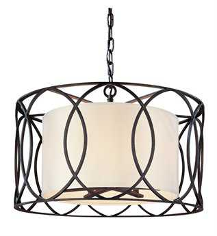 Troy Lighting Sausalito Deep Bronze Five-Light Pendant Light