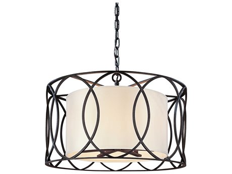 Troy Lighting Sausalito Deep Bronze Five-Light 25'' Wide Pendant Light
