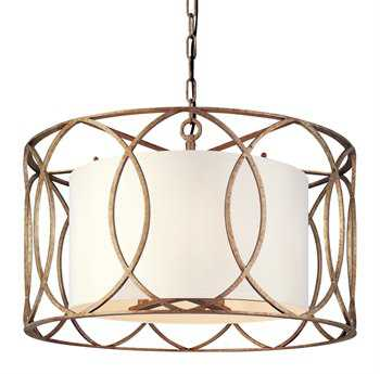 Troy Lighting Sausalito Silver Gold Five-Light Pendant