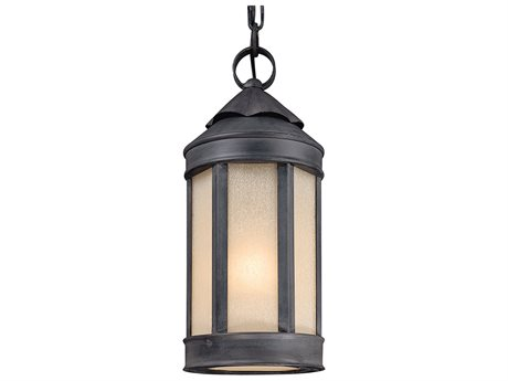 Troy Lighting Andersons Forge Antique Iron 7'' Wide Outdoor Hanging Light