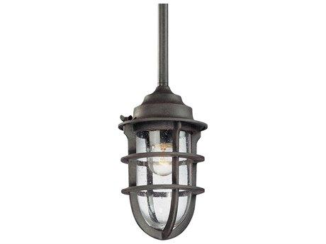 Troy Lighting Wilmington Nautical Rust 6'' Wide Outdoor Hanging Light TLF1860NR