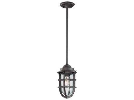 Troy Lighting Wilmington Nautical Rust 7'' Wide Outdoor Hanging Light TLF1862NR