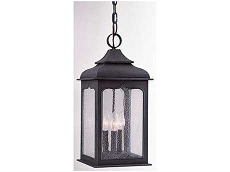 Troy lighting henry street colonial iron four light for Outdoor colonial lighting