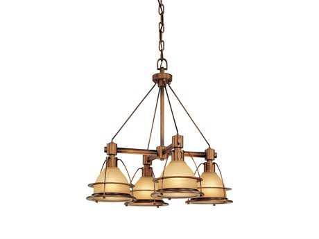 Troy Lighting Bristol Bay Sunset Bronze Four-Light 25'' Wide Chandelier