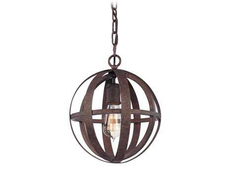 Troy Lighting Flatiron Weathered Iron Pendant Light
