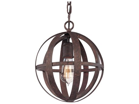 Troy Lighting Flatiron Weathered Iron 10'' Wide Mini-Pendant Light