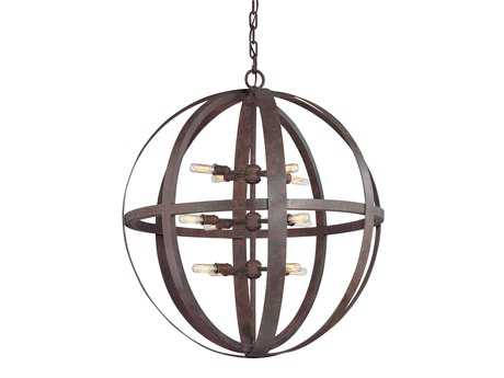 Troy Lighting Flatiron Weathered Iron 12-Light Pendant Light