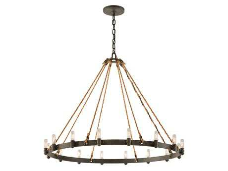 Troy Lighting Pike Place Shipyard Bronze 16-Light 42'' Wide Chandelier