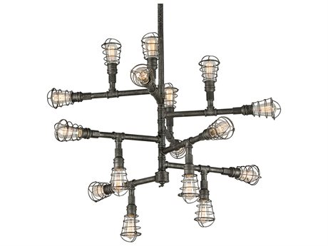 Troy Lighting Conduit Old Silver 16-Light 42'' Wide Chandelier