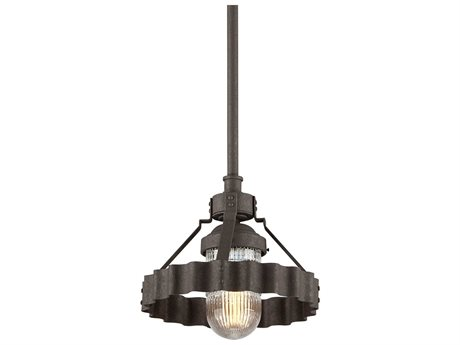 Troy Lighting Canary Wharf Burnt Sienna 12'' Wide Outdoor Hanging Light TLF4243