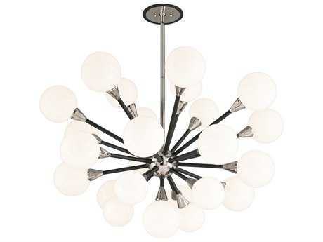 Troy Lighting Nebula Carbide Black & Polished Nickel Extra Large 25-Light Pendant Light