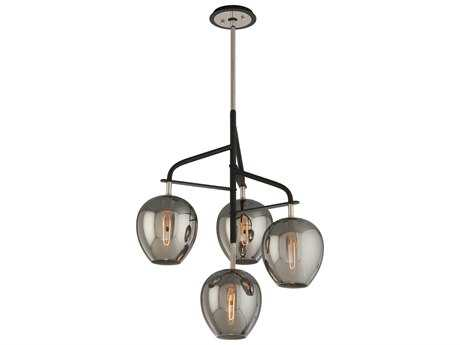 Troy Lighting Odyssey Carbide Black & Polished Nickel Small Four-Light Pendant Light