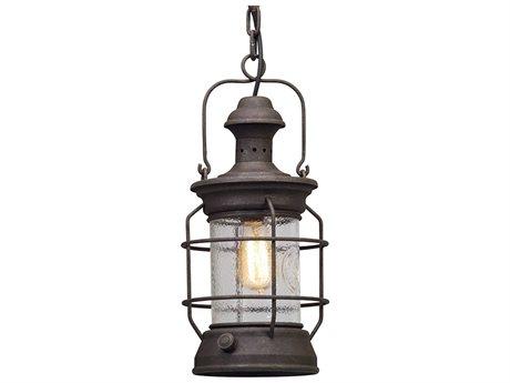 Troy Lighting Atkins Centennial Rust 8'' Wide Outdoor Hanging Light TLF5057