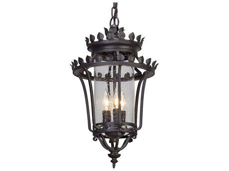Troy Lighting Greystone Forged Iron Three-Light 12'' Wide Outdoor Hanging Light
