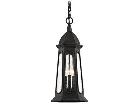 Troy Lighting Astor Vintage Iron Three-Light 9'' Wide Outdoor Hanging Light