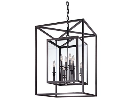 Troy Lighting Morgan Deep Bronze Eight-Light 21'' Wide Pendant Light