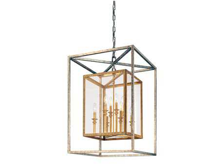 Troy Lighting Morgan Gold Silver Leaf Eight-Light Pendant Light