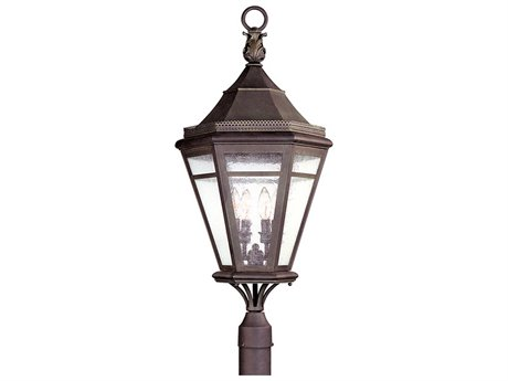 Troy Lighting Morgan Hill Natural Rust Four-Light 15'' Wide Outdoor Post Light