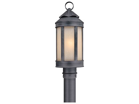 Troy Lighting Andersons Forge Antique Iron 7'' Wide Outdoor Post Light